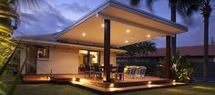 flat roof pergolas - Google Search