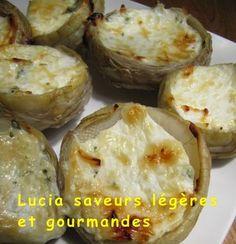 fonds d'artichauts farcis au fromage et aux herbes