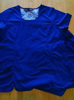 Dansko xl royal blue scrub set top pants nursing  #dansko