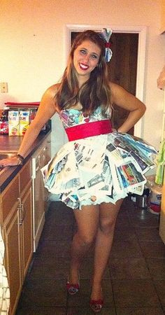 ABC Newspaper Dress and a few more other costumes that were at my ABC birthday party Here is the HOW TO Link!!