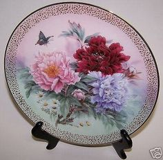 Peony Prelude Lena Liu Plate Symphony Of Shimmering Beauty WS George Collector  #WSGeorgeCollector