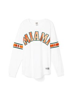 University of Miami Limited Edition Varsity Crew - PINK - Victoria's Secret