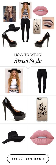 """""""Street Outfit"""" by janesmith-30125 on Polyvore featuring Frame Denim, Motel, San Diego Hat Co., Casetify and Lime Crime"""