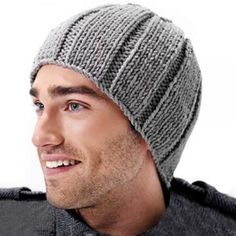 - ༺✿༻Knitting/Crochet for Men༺✿༻ Crochet Beanie Pattern, Knit Crochet, Crochet Hats, Knit Hat For Men, Hats For Men, Knitted Gloves, Knitted Bags, Diy Hat, Outfits With Hats