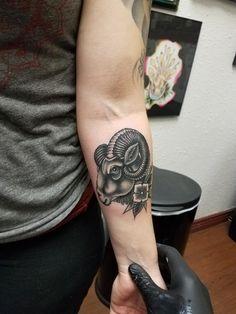 Ram tattoo by Richard - Emerald Tattoo Lodi