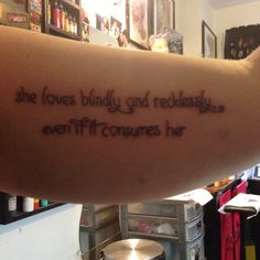 My newest addition :) a quote from The Vampire Diaries that means a lot to me <3