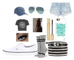 """""""Untitled #65"""" by justiceavh ❤ liked on Polyvore featuring Topshop, Zara, Casetify, Ray-Ban, Yves Saint Laurent, Stance and Vans"""
