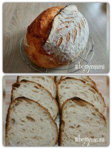 Kovászos fehér kenyér   Betty hobbi konyhája Bread, Food, Brot, Essen, Baking, Meals, Breads, Buns, Yemek