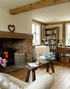 Small Inglenook Fireplace Designs Best Cottage Fireplace Ideas On Cottage Living, My Living Room, Home And Living, Living Room Decor, Living Spaces, Cottage Fireplace, Inglenook Fireplace, Fireplace Design, Fireplace Ideas