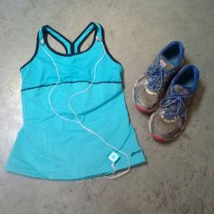FINAL PRICE Asics Blue Run Workout Athletic Tank ASICS brand running and workout racerback tank, size medium, bright blue with black trim. This is like new without tags--bought from the catalog 5 years ago and was too short on me to wear! Has a built-in and adjustable bra (see last photo) and two pockets in the back (see 3rd photo). Similar to Nike and Lululemon athletic wear. Please ask any and all questions before purchasing. No trades. Price firm. Thanks! *Shoes and iPod not included…