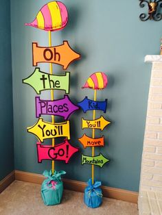 A personal favorite from my Etsy shop https://www.etsy.com/listing/228227657/giant-oh-the-places-youll-go-sign