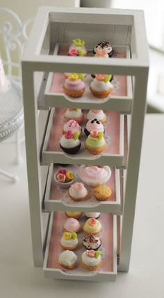 Miniature Cupcake Display
