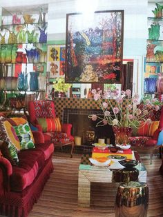 Love love love this!!! Brazilian designer Sig Bergamin's Sao Paulo house... filled with color and artful abandon. I have loved his work since I discovered him in So Chic. Architectural Digest, April/2012.