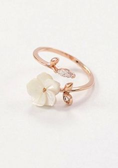 pretty little flower cuff ring