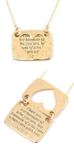 Love notes necklace - sooooo cute, someone pls notify my husband to be of this!!