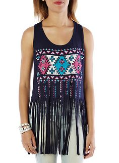 Tribal Fringed Tank
