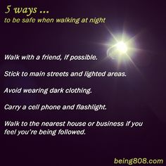 5 ways ... to be safe when walking at night