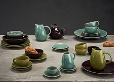 French charm for your breakfast table. Founded more than 150 years ago, still today, Jars continues to produce porcelain stoneware with the same hand craftsmanship, from natural and environmentally sustainable raw materials Raw Materials, Tablescapes, Stoneware, Designer, Porcelain, Jars, Tableware, Shopping, Choices