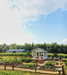 Potager kitchen garden raised beds and garden shed. Potager kitchen garden raised beds and garden shed. The Farm, Raised Garden Beds, Raised Beds, Farm Gardens, Outdoor Gardens, Shed Landscaping, Potager Garden, Vegetable Garden Design, Vegetable Gardening