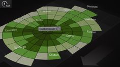 Football match data visualization - stills from Infographic movie
