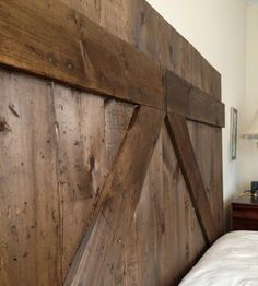 Wooden Barn Door Headboard - Queen-Size by Them Two Birds on Scoutmob Shoppe.
