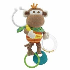Chicco Great Shakes Monkey Toy, (baby toy, infant toys, baby toys, lamaze, discovery, baby gift, developmental toys, educational toy, first years, lamaze toy)
