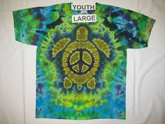 Peace Turtle Tie Dye Shirt - Peace Turtle Tie Dye Shirts are made fully custom to whatever you choose, and is the best quality you'll ever find!