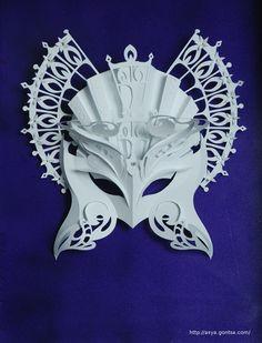 Paper Masks by Asya Gontsa, via Behance
