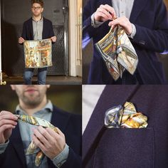 Some lovely shots of our Crivelli Pocket Square from the National Gallery Collection courtesy of the brilliant Suavebynature #pocketsquarefolds #stepbystep #guide #accesorries #menswear #style #inspiration #technique #howto #fashion #menswear