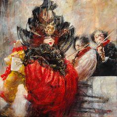 "Marcel Nino Pajot  ""Saltimbanques""  80 x 80 cm"
