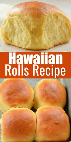 Hawaiian Rolls Recipe is a favorite soft fluffy sweet dinner roll recipe. Always a favorite at Thanksgiving and Christmas! Great for making sliders from Serena Bakes Simply From Scratch. recipes easy no yeast dinner rolls Hawaiian Rolls Recipe Sweet Dinner Rolls, Dinner Rolls Easy, Fluffy Dinner Rolls, Homemade Dinner Rolls, Hawaiian Rolls, Hawaiian Recipes, Hawaiian Sweet Breads, Bread Machine Recipes, Bread Machine Hawaiian Bread Recipe