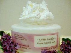 COCONUT LAVENDER Whipped Cream Body Luxury by BlissBodyandBath