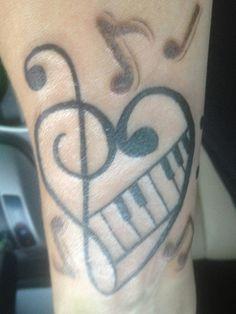 Music tattoo of mine