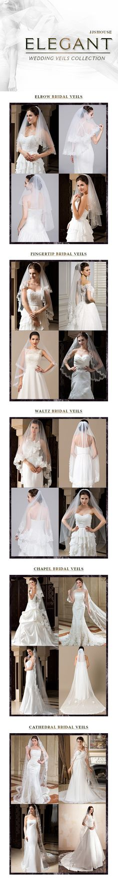 New 2016 Wedding Veils, Fingertip Bridal Veils, Elbow Bridal Veils, Cathedral Bridal Veils, Waltz Bridal Veils, Chapel Bridal Veils. See the whole collection now!