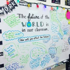 Why not use the first thing your student sees in the classroom as a way to boost both his confidence and the confidence of his peers? Take a look at some ways these teachers transformed their white boards, the centerpieces of the classroom, into tools to
