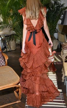 Melancholy Dance Ruffled Silk Organza Gown by Johanna Ortiz SS19   Moda Operandi Fashion Week, Look Fashion, Fashion Show, Silk Organza, Mode Inspiration, Mode Outfits, Beautiful Gowns, Dream Dress, Couture Fashion