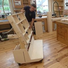 How Timothy Wilmots Builds That Six-Way Multi-Function Shop Cart - Portable Workbench, Mobile Workbench, Lumber Rack, Wood Rack, Sheet Storage, Shop Dust Collection, Plywood Storage, 3d Cnc, Ideas Para Organizar