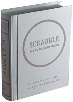 Scrabble Linen Book Vintage Edition Board Game   Bookshelf