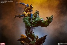 Marvel Hulk vs Wolverine Maquette by Sideshow Collectibles | Sideshow…