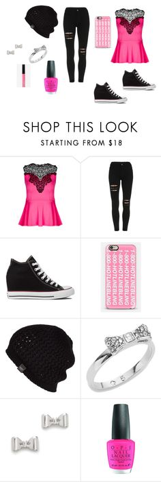 """jeans maybe converse"" by nevaeh678 on Polyvore featuring City Chic, Converse, Casetify, UGG Australia, Kate Spade, Marc by Marc Jacobs, OPI and Express"