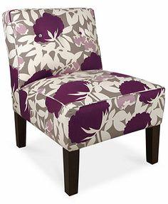 "Calabasas Fabric Accent Chair, Peony Plum 25\""W x 32\""D x 33\""H  Macy's - $350"