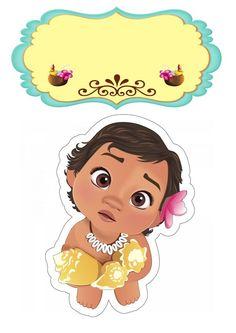 Moana Theme Birthday, Moana Themed Party, Moana Party, Baby Moana, Festa Moana Baby, 1st Birthday Cake Topper, Baby Birthday, Lol Dolls, Kids Cards