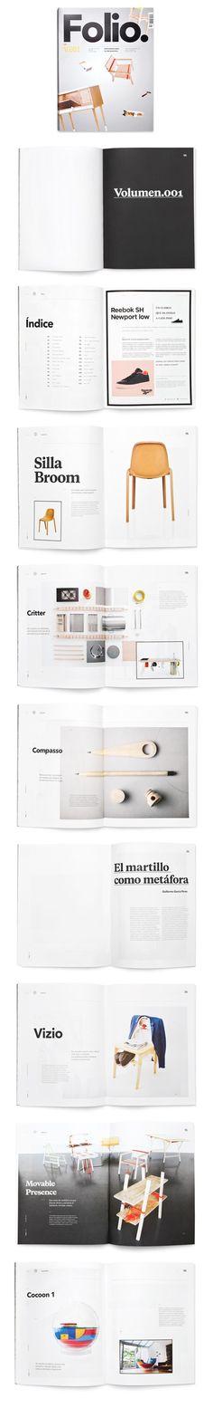 FOLIO design layout via Behance