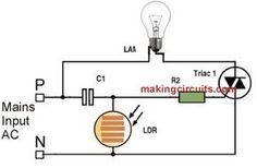 day night automatic triac switch circuit