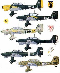 Junkers Ju 87 STUKA variations
