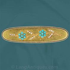 Tiffany & Co Forget-Me-Not Pin - 50-1-1617 - Lang Antiques