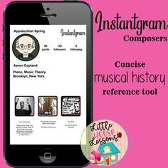 Composers on Instagram - Music Memory Cards