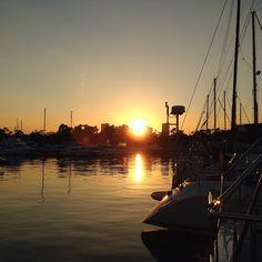 夢の島マリーナの夕日②