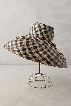 Checkered Sun Hat - anthropologie.com