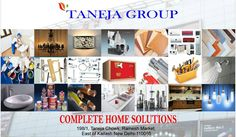 Shopping online Home Décor Items, Electronics Products, Hardware Products, Paints, and bathroom fittings, tiles available at #TanejaGroup